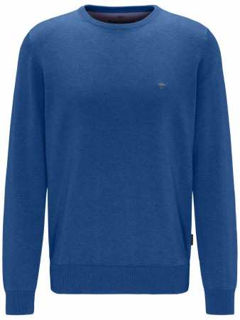 Fynch-hatton O-neck Genser Azure M-4XL