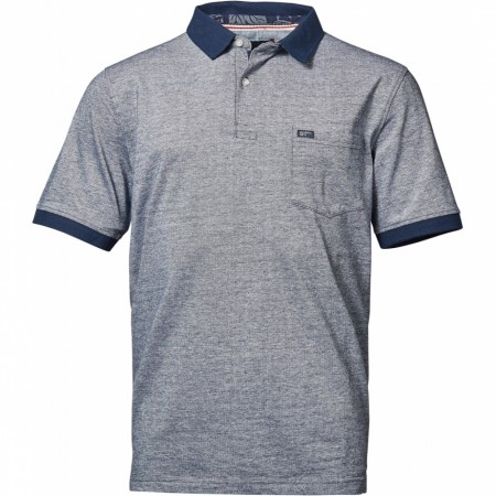 North 56°4 Blue Piquet Polo S/s 3XL-8XL