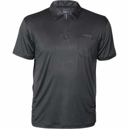North 56°4 Black Polo Cool Effect W/zip S/s 2XL-8XL