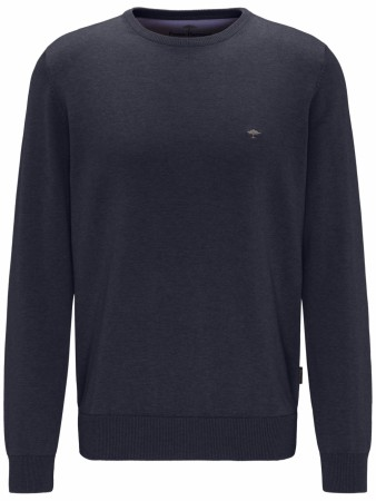 Fynch-hatton Navy O-Neck Genser M-4XL