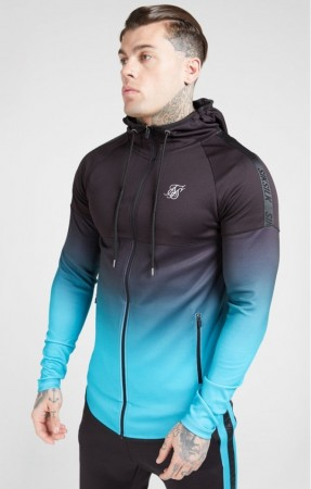 Siksilk Athlete Hoodie Black & Teal M+L