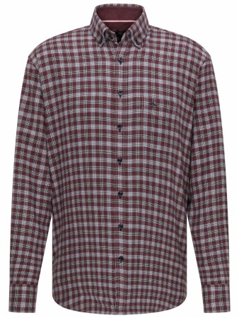 Fynch-hatton Structured Combi Checked Mauve Shirt XXL