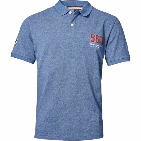 North 56°4 Blue Melange Polo 2XL-7XL