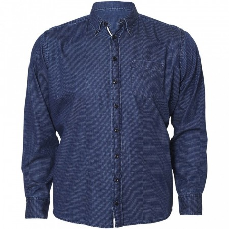 North 56°4 Printet Denim Skjorte 2XL-6XL