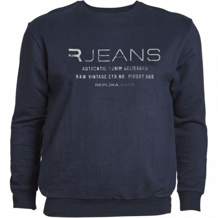 Replika Crew Neck Sweat Navy 2XL-8XL