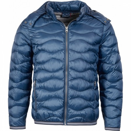 North 56°4 Navy Blue Puffer Jacket med avtagbar hette XXL-8XL