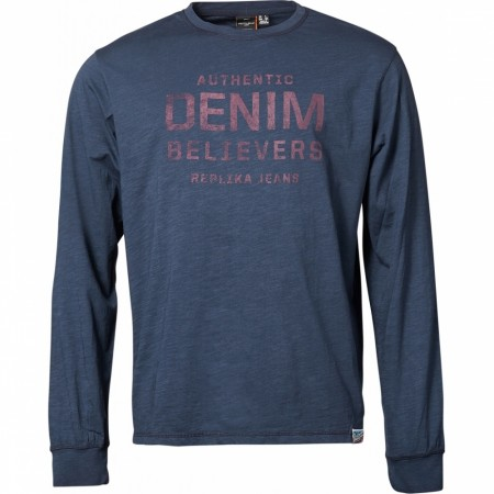 Replika Jeans Navy Blue T-shirt L/S 2XL-8XL