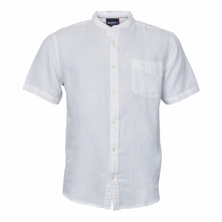 North 56°4 White Farmer Linen Shirt XXL-8XL
