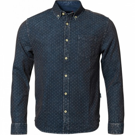 North 56°4 Knitted Allover Printed Shirt L/s 2XL-8XL