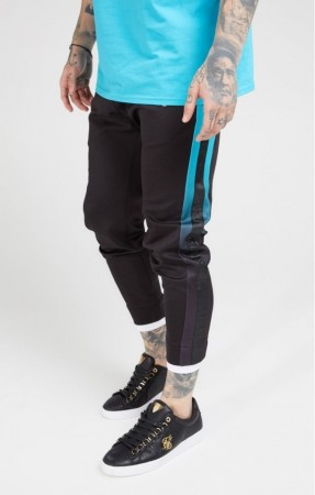 Siksilk Black & Teal Bukser Track Pants S-2XL