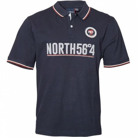 North 56°4 Navy Blue Polo S/s 2XL-8XL