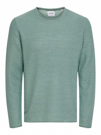 Only & Sons ONSCAM Crew Neck Knit Aquifer S-2XL