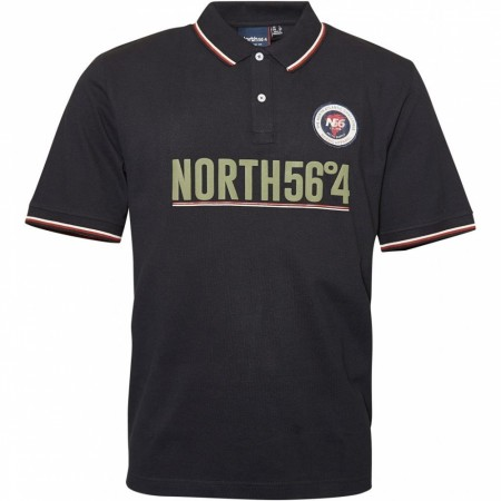 North 56°4 Black Polo S/S 2XL-7XL