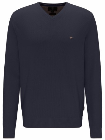 Fynch-hatton Navy V-Hals Genser M-4XL